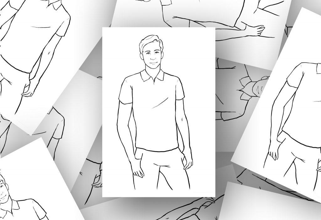 25 idées de poses photos masculines
